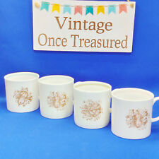 Susie Cooper Musical Instruments - 4 x Coffee Cups - Vintage & Rare 1960s VGC
