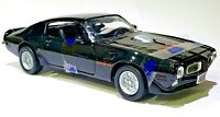 Motormax 1973 Pontiac Firebird Trans Am Black SD 455 FIREBIRD on Hood 1/24 Scale