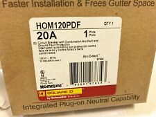 1 NEW SQUARE D HOMELINE HOM120PDF ARC & GROUND FAULT CIRCUIT BREAKER BEST PRICE
