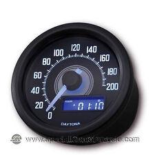 Contachilometri Elettronico Daytona Dark Luce Bianca 200Km/h Cafè Racer