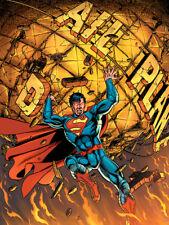 Superman-Planeta diaria de lienzo enmarcado Listo - 60x80cm