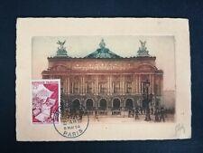 FRANCE PREMIER JOUR FDC YVERT 974 FLEURS PARFUMS OPERA 75F PARIS 1954