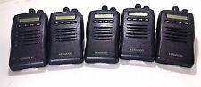 Lot Of 5 Kenwood TK-3140-1 UHF Two-Way Radios