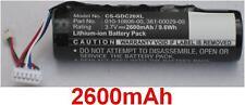Batería 2600mAh tipo 010-10806-00 Para Garmin DC 20, Garmin DC 30, Garmin DC 40