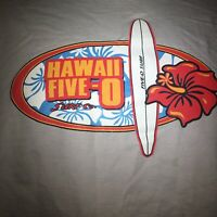 VTG Hawaii Five O Surf Co Company Mens Size Medium M Gray Long Sleeve Tshirt New