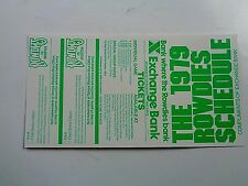 Unfolded 1979 Tampa Bay FL Rowdies Soccer Schedule, W/Coupons, NM/MT