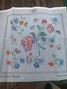 """Laura Ashley Printed Tapestry Canvas Summer Palace Flowers Butterflies 16 x16"""""""