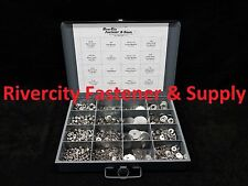 Stainless Nut & Washer assortment #10, 1/4, 5/16 & 3/8 Lock nuts, Washers, Flat