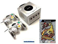 ## Nintendo GameCube GC Konsole silber + 2 Pads + Mario Smash Football ##