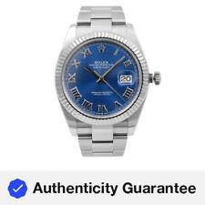 Rolex Datejust Acero Oro 41 Blanco Azul Cuadrante Romano Reloj Para hombres Automático 126334