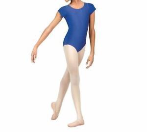 Girls Shiny  Short Sleeve  Dance Gymnastics Leotard Kids Sizes