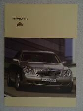 Maybach brochure c2004 - 57 and 62 models.