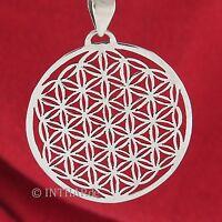 925 Sterling Silber - Anhänger Blume des Lebens - Lebensblume Medaillon Amulett