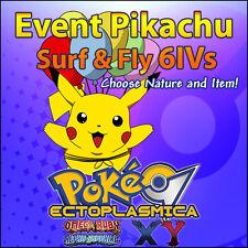 Pikachu 6IV Center Online (Surf & Fly) Japanese Event 6IVs - Pokemon Guide