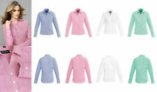 Career Long Sleeve Machine Washable 100% Cotton Tops & Blouses for Women