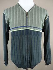 Gestreifte Herren-Pullover & -Strickware mit V-Ausschnitt und Reißverschluss