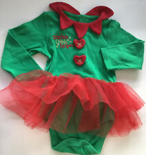 Bebé Navidad Elfo Mameluco 9-12 meses de edad