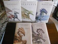 Complete NATURAL HISTORY OF DRAGONS, Marie Brennan, all SIGNED,1st prints HCDJ