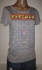 PAC-MAN PACMAN HEATHER GREY GAME THEME HI LO XS EXTRA SMALL WOMENS TOP SHIRT NWT