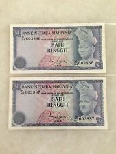 (JC) 2pcs RM1 3rd Series Signed ISMA K/44-603886 - 887 running - UNC foxing