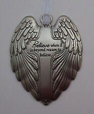 hhd Believe when it is beyond reason to believe Wings of Angels ORNAMENT cross