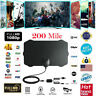 Antenna TV Interna Amplificata Potente 1080P Digitale HDTV per DVB-T 200 miglia