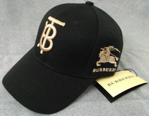 Burberry TB Baseball Sport Hat Adjustable Black Cap Unisex