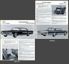 OLDSMOBILE Série 88 Luxury Berline / Séire 98 Town -  FICHE AUTO COLLECTION #J1