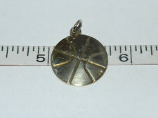 Vintage RQC Sterling Silver Gold Overlay Basketball Charm