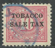 U.S. Revenue Tobacco Sales Tax stamp scott rj4 - 10 cent issue of 1934 - #7