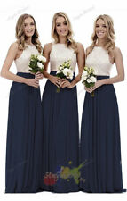 Long Formal Chiffon Lace Party Ball Evening Gown Prom Bridesmaid Dresses plus