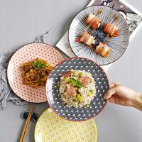 """""""Easy Life"""" 8 Inches Ceramic Plate Platter Restaurant Home Dinnerware Tableware"""