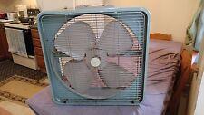 Vintage Capri 22 Inch Box Fan Metal 3 Speed Light Green Model CPX20 Working Nice