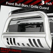 """3"""" Stainless Steel Bull Bar Brush Grille Guards For 2015-2018 GMC Canyon Bumper"""