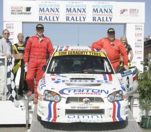 RALLY 1/18 SUBARU IMPREZA WRC KENNY MCKINSTRY MANX INTERNATIONAL DECALS CODE 3
