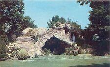 Maryknoll New York Lourdes Grotto At Sisters' Motherhouse Postcard c1960s