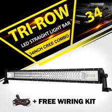 "Tri-Row 34inch 1944W LED Light Bar Spot Flood Combo Truck Offroad VS 30"" 32"" 36"""