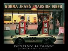 DESTINY HIGHWAY PRINT CHRIS CONSANI Monroe James Dean Bogart 32X24 diner poster