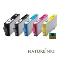 5 OEM ink cartridges alternative to HP Multipack HP364 HP364XL with CHIPSET