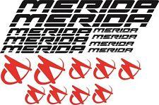 KIT n18 ADESIVI PRESPAZIATI BICI MERIDA con application marca 3M logo a colori!
