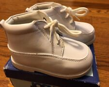 Josmo Toddler Boys High Top First Walker Shoe White Size 6 Style 19899
