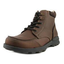 Leather Work Boots - Men's Footwear