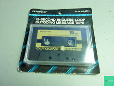 15 Second Endless Loop Outgoing Message Tape, Duofone, NEW Sealed