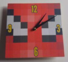wooden Minecraft Spiderman Handmade Wall Clock Gift Kids Bedroom