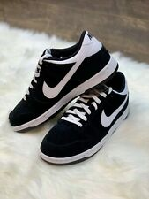 NIKE Dunk Low Black White 904234-001 sb Skate Shoes Suede size 10.5