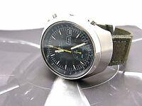 SEIKO vintage Helmet chronograph 6139 7160 japan 704042 military band NICE