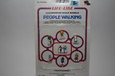 Life Like HO Figures for Train Layout, People Walking, Handpainted Scale Models