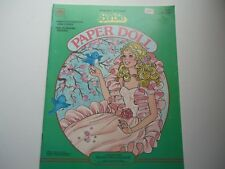 Barbie 1980s Book VINTAGE Paper Doll 1985 Barbie Golden Western Peaches 'n Cream