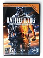 Battlefield 3: Premium Edition PC DVD-ROM - COMPLETE- FREE Shipping