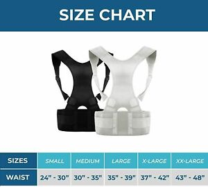 MEDCorrect - Back Brace Posture Corrector - Adjustable - Relieves Pain - Size XL